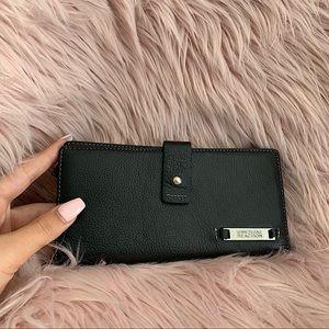 KENNETH COLE | Black genuine leather wallet